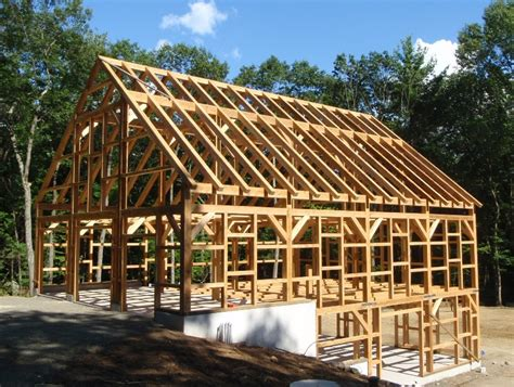 Gambrel Roof Garage Plans by Post And Beam Barns On Pinterest Post And Beam Timber