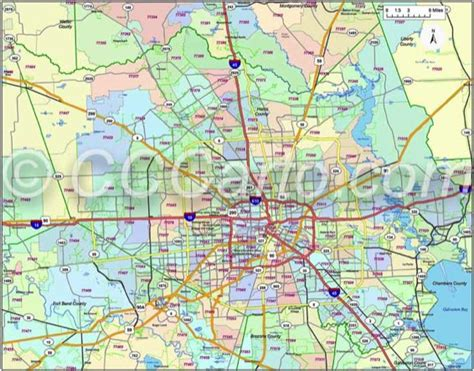 printable zip code map houston harris county zip code map my blog