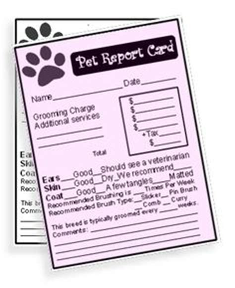 free pet sitting report card template 1000 images about daycare ideas on