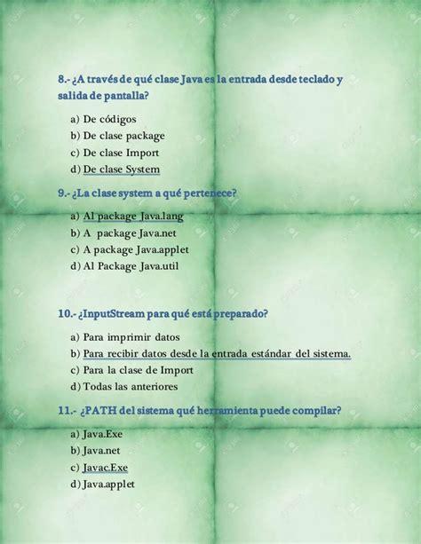 preguntas java 8 preguntas sobre lenguaje java