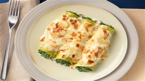 cottage cheese recipes cannelloni with spinach cottage cheese and almonds