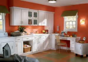 Kitchen Wall Colour Ideas wall color ideas kitchen orange walls white kitchen cabinets plant