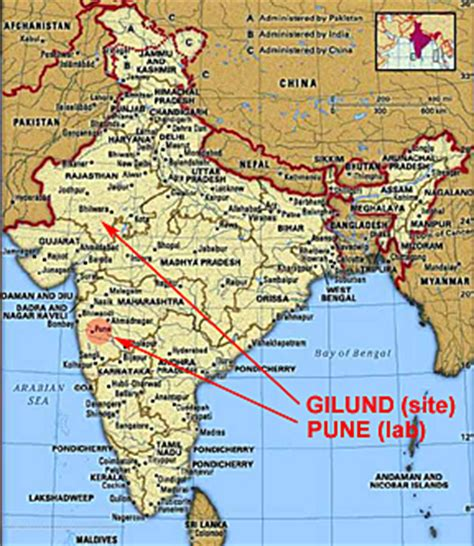 pune in map of india pune map