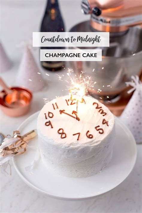 new year traditional desserts countdown to midnight chagne cake pizzazzerie