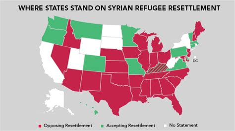 map of us states not accepting syrian refugees attack on and islamophobia refugee crisis