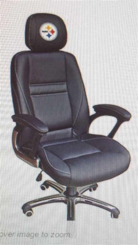 Office Chairs Pittsburgh Nfl Steelers Leather Executive Chair Bidbandits