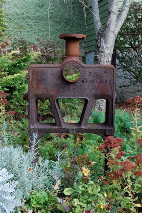 Gartendeko Aus Holz Und Eisen by Gartendeko Aus Metall Und Rost Industrieller Charakter