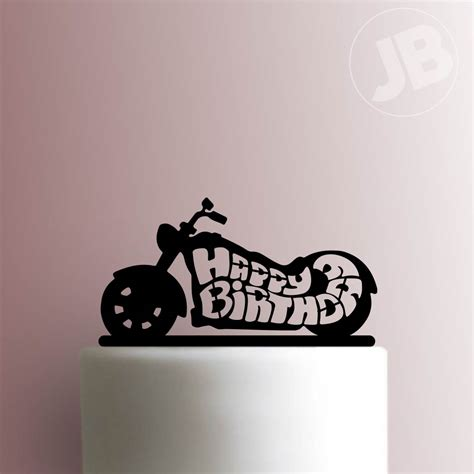 Motorcycle Happy Birthday Cake Topper 100
