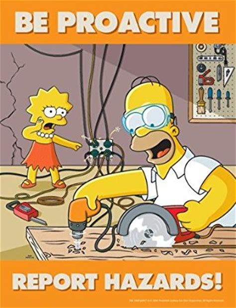The Meme Machine Pdf - simpsons hazard reporting safety poster be proactive