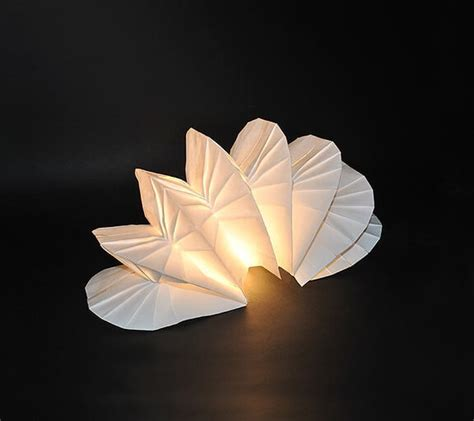 Paper Folding Designs - diy lighting with original origami design by jiangmei wu