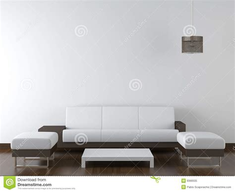 Living Room Background Stock Images Interior Design Modern Furniture On White Wall Royalty