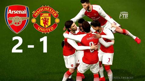 arsenal pes 2018 arsenal fc vs manchester united pes 2018 youtube