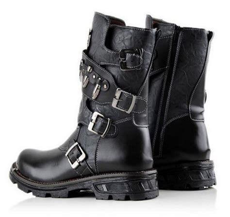 stylish motorcycle boots black stylish boots for men www imgkid com the image