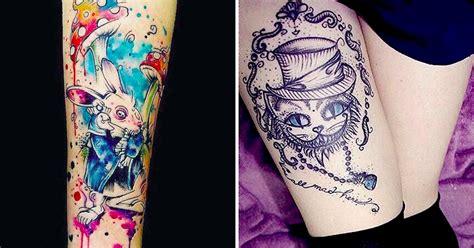 13 tatuagens de alice no pa 237 s das maravilhas por artistas