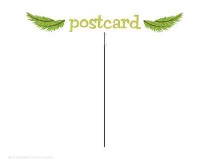 Free Printable Postcard Invitations Template