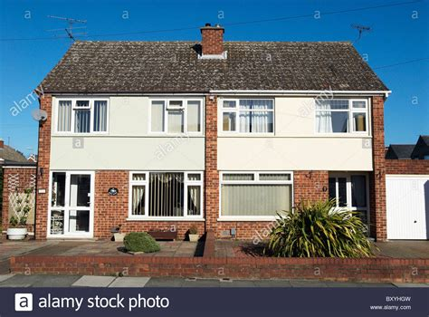 1950 60s semi detached houses suburb uk stock photo