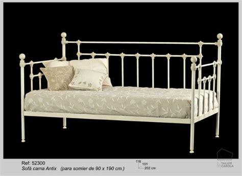 sofa cama forja estilo vintage sof 225 s camas de forja el taller de carola