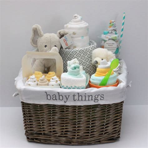Baby Shower Gifts by Gender Neutral Baby Gift Basket Baby Shower Gift Unique Baby
