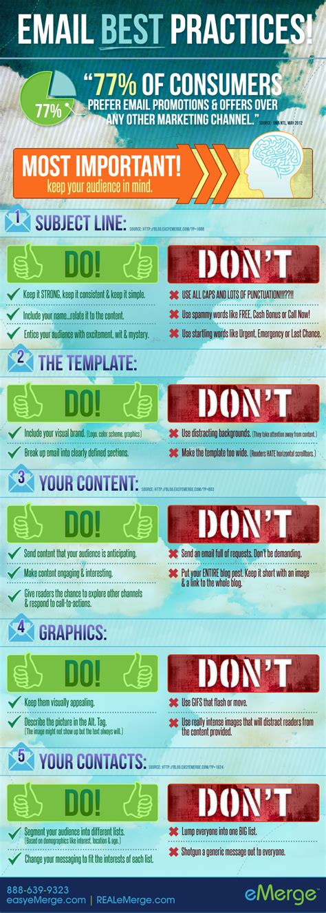 email template design best practices email best practices business infographics