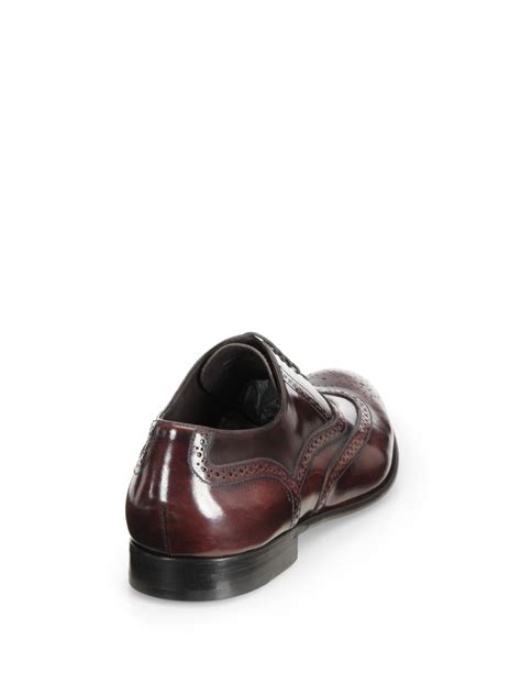 gordon pacific wingtip oxford dress shoes burgundy in