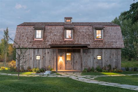 barn shaped houses carney logan burke creates barn shaped guest house in