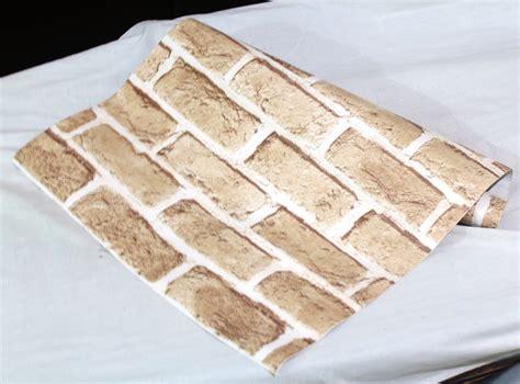 jual wallsticker roll batu bata merah pucat tokobaik