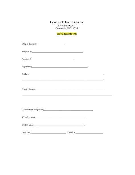 check request form check request form commack center