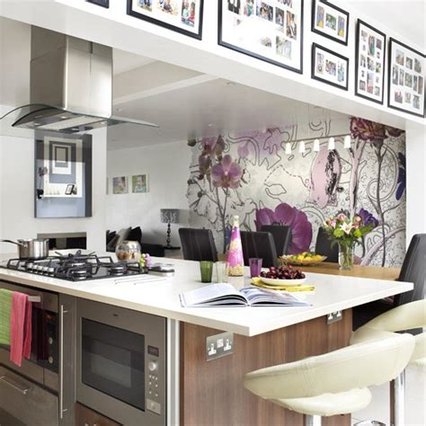 wall ideas for kitchen kitchen wallpaper ideas 10 of the best housetohome co uk