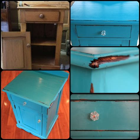 black spray paint on the edges let it make your own teal chalk paint wax furniture finish