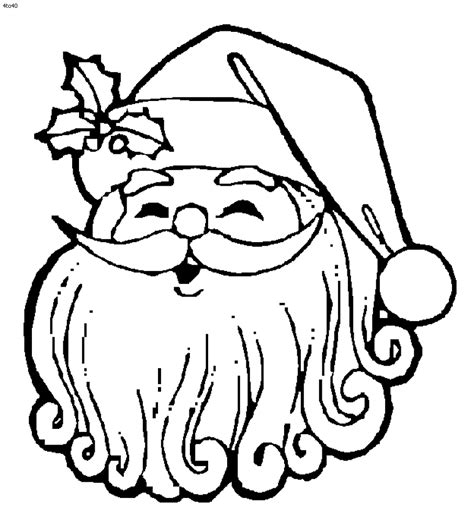 santa coloring pages 2018
