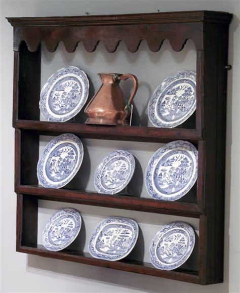 Antique oak delft rack, antique plate rack, antique