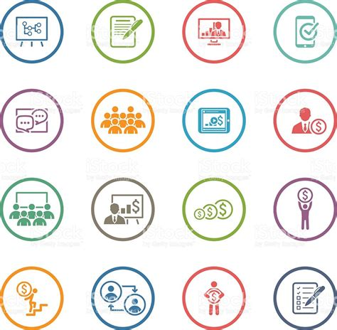 design icon free online business coaching icon set online learning flat design
