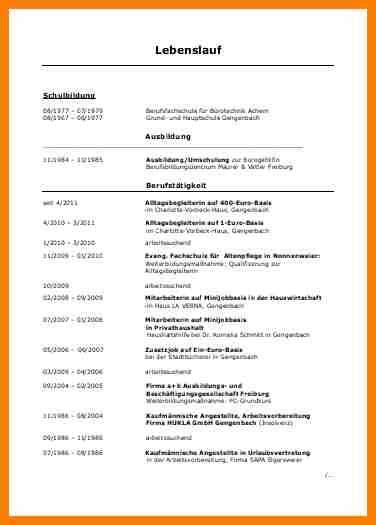 Lebenslauf Vorlage Arbeitssuchend 8 Lebenslauf Arbeitssuchend Recommendation Template