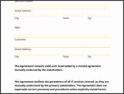 customer service level agreement template sampletemplatess sampletemplatess