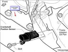 2005 Nissan Altima Crank Sensor 2005 Nissan Altima Se V6 3 5l Engine The Right Location Of