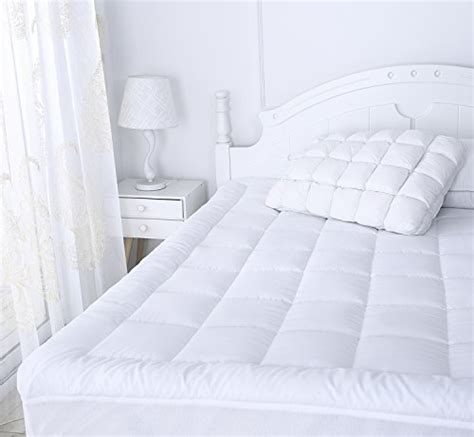 pillow top bed cover mattress pad cover size pillow top topper thick