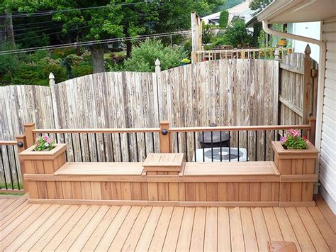 deck benches with storage best 25 deck storage bench ideas on pinterest garden
