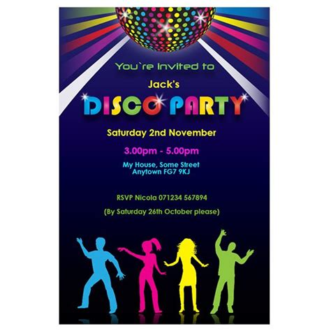 disco template free printable disco invitations