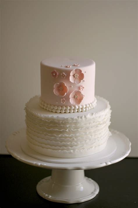 Vintage Baby Shower Cakes by Pink Ruffly Baby Shower Cake The Couture Cakery