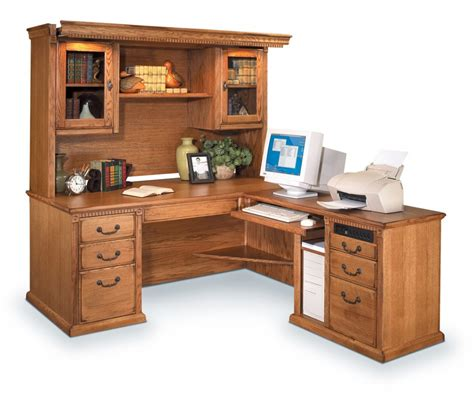 l shaped desk with hutch storage within small office desk