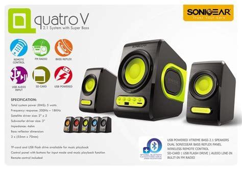 Speaker Pc Laptop Notebook Sonicgear Quatro V Bass sonicgear quatro v speaker end 5 6 2019 2 15 pm
