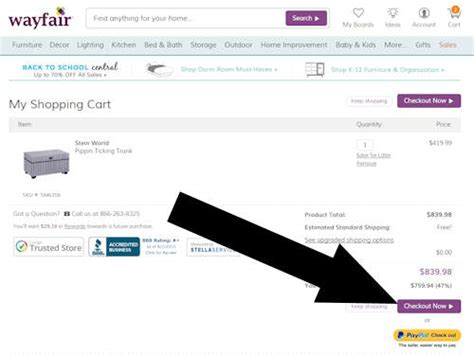 coupon instructions how where to enter promo codes for where do i put the wayfair promo code