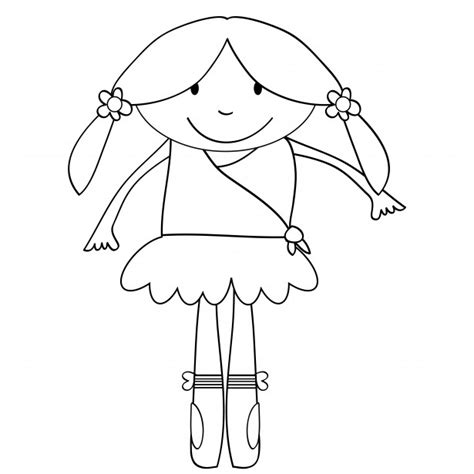 Ballerina Kids Coloring Page Free Stock Photo Public Copyright Free Coloring Pages