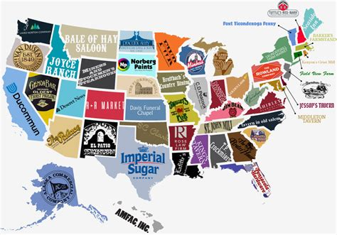 visual map of the united states the oldest businesses in the united states daily infographic