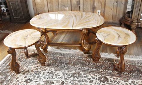 Coffee Table Amazing Marble End Table Set Marble End