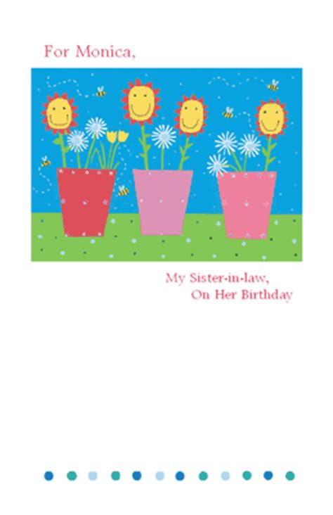 printable birthday cards for a sister quot love for sister in law quot birthday printable card blue