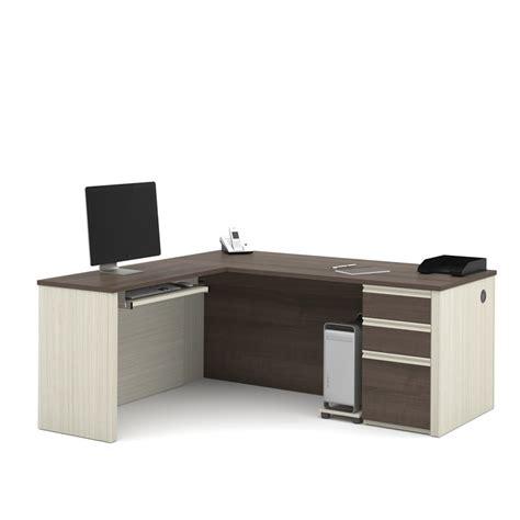 bestar prestige l desk bestar prestige plus l desk in white chocolate and antigua