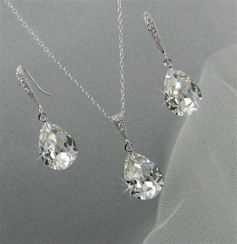 bridal jewelry set pendant earrings necklace