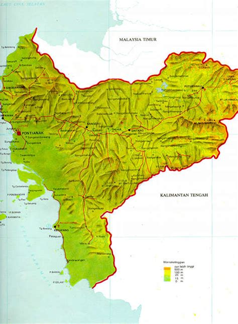 pontianak map republik indonesia republic of indonesia a malaysian