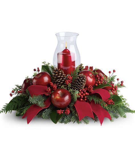 festive hurricane centerpiece blossomflower com